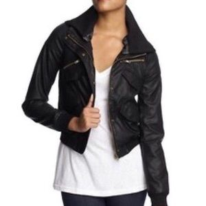 Lucca Couture Faux Leather Jacket Bomber XS